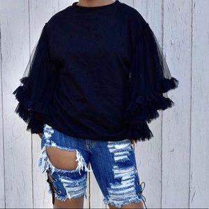 Pants - High Waist Bermuda Shorts
